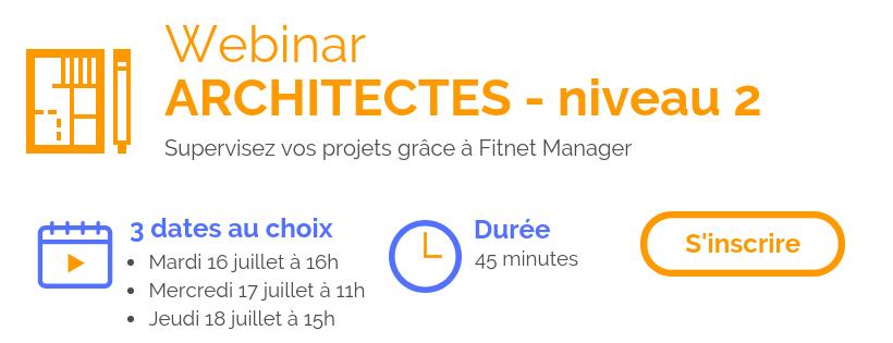 Fitnet Manager Webinar Architectes